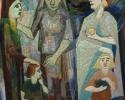 Hermann Kuhmichel: Arme Mutter-Reiche Mutter, (1950), Stickbild
