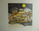 Ruth Fay: Traumstadt, 1983, Seidenmalerei