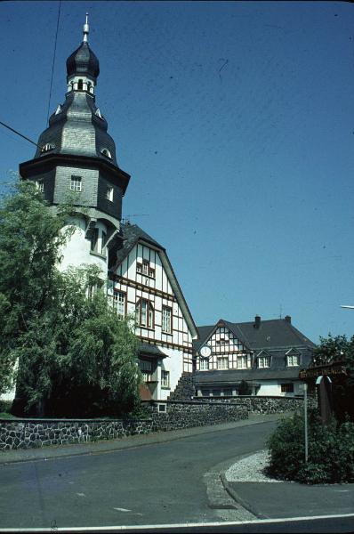 Vorderansicht des Heimhoftheaters in Würgendorf