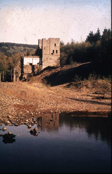 Ruine der Betriebsgebäude der Peterszeche im Buchhellertal