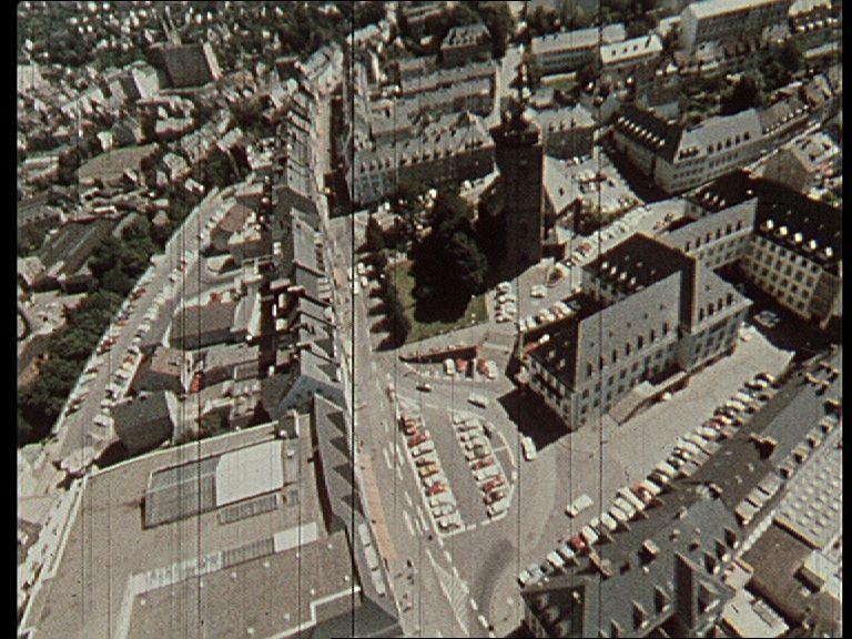 Siegen, Markt mit Rathaus und Nikolaikirch