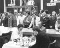 Bobby Fischer während einer seiner Partien