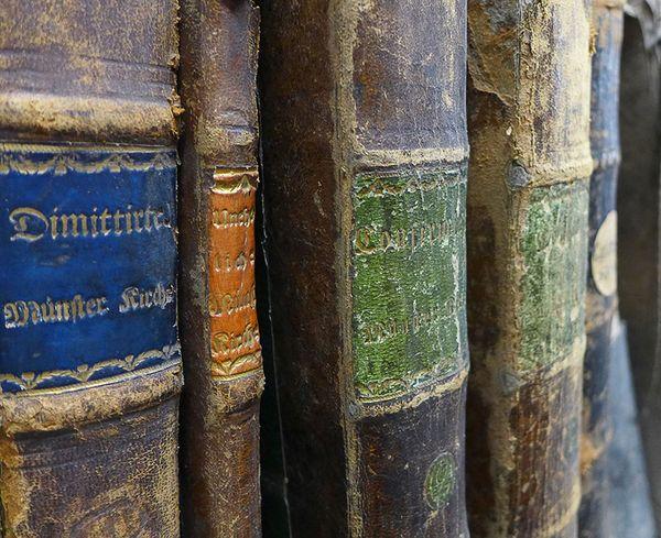 Kirchenbücher der Münster-Kirchengemeinde Herford Foto: Kirchenbuchportal GmbH