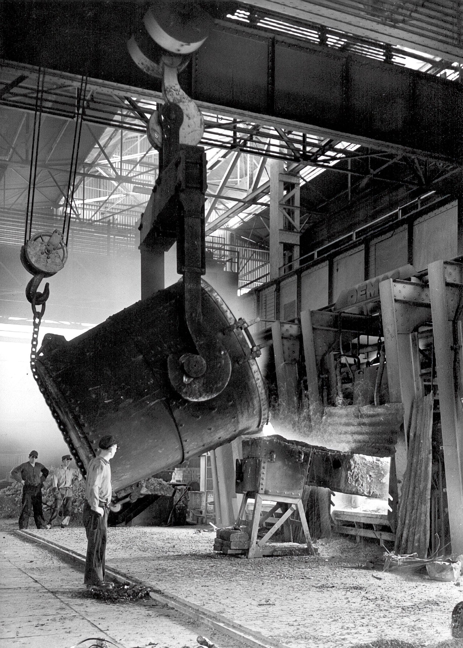 Roheisenkippe SM-Stahlwerk